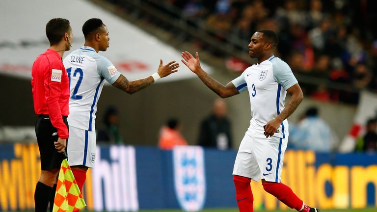 Clyne featured in both of England's recent friendly internationals