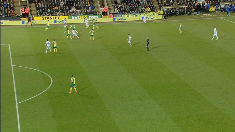 Diego Costa was offside when he scored against Norwich on Tuesday night
