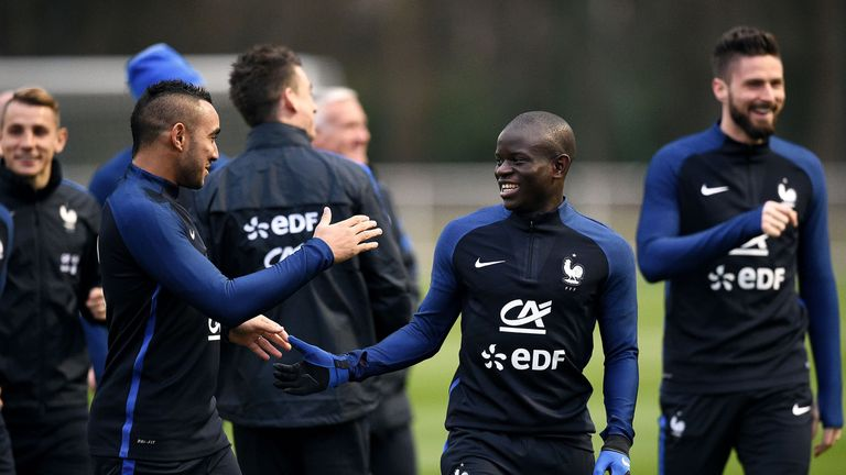 Dimitri Payet (L) has joined up with the France squad