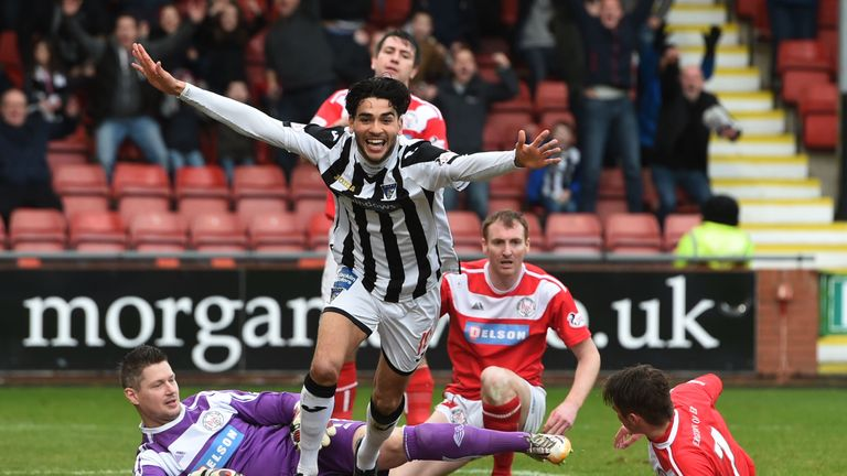 Faissal El Bakhtaoui scored 43 goals in 92 games during his time at Dunfermline