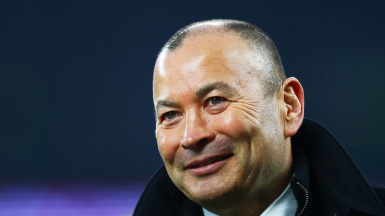 Jones was all smiles after England's nervous win over Wales at Twickenham