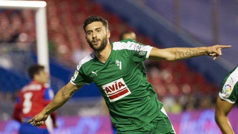 Eibar's forward Tomas Borja Baston