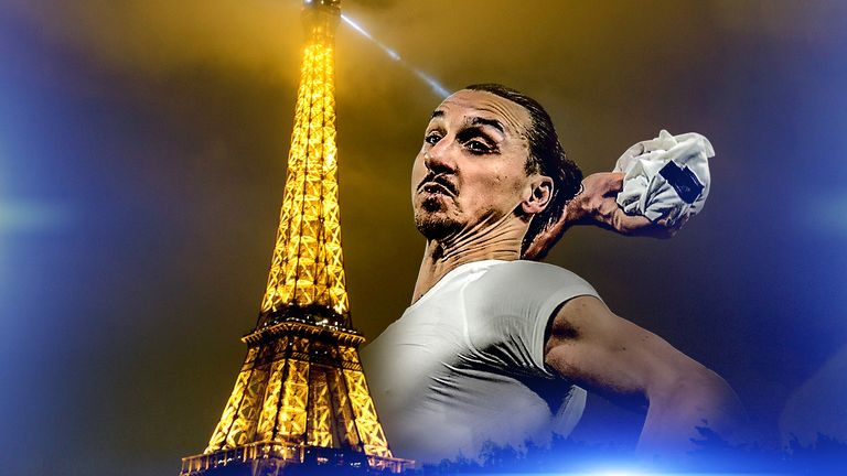 Eiffel Tower Hits Back At Zlatan Ibrahimovic Football News Sky Sports