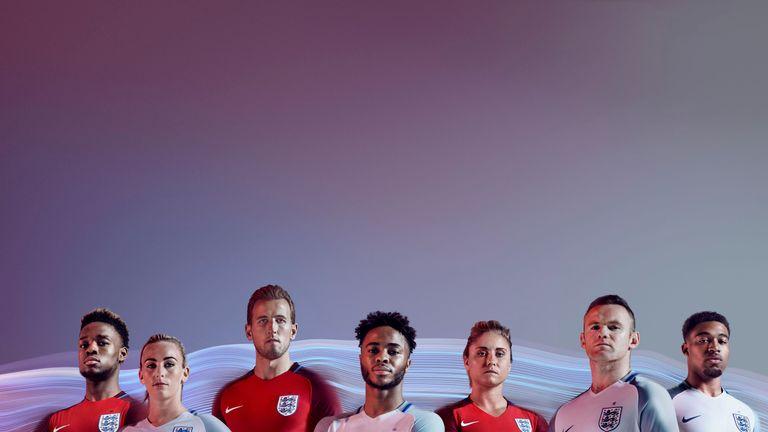 England's new home and away kits
