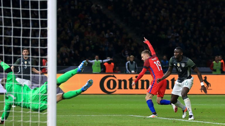 Vardy was praised by Joachim Low after scoring in England's win over Germany