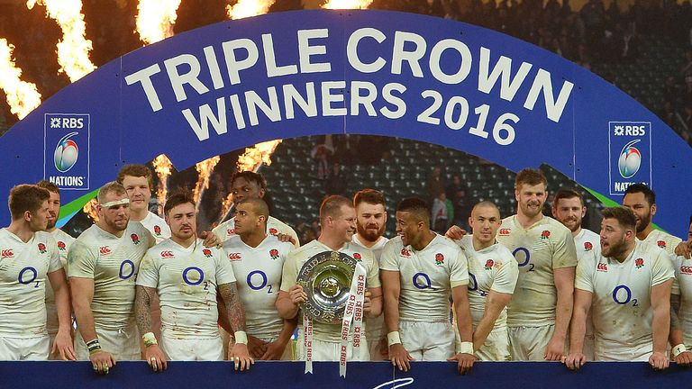 Saturday's victory clinched the Triple Crown for England