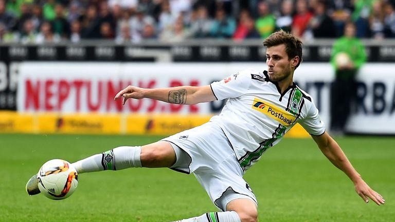 Havard Nordtveit of Moenchengladbach scores his teams first goalduring the Bundesliga match between Borussia Moenchengladbach and VfL Wolfsburg