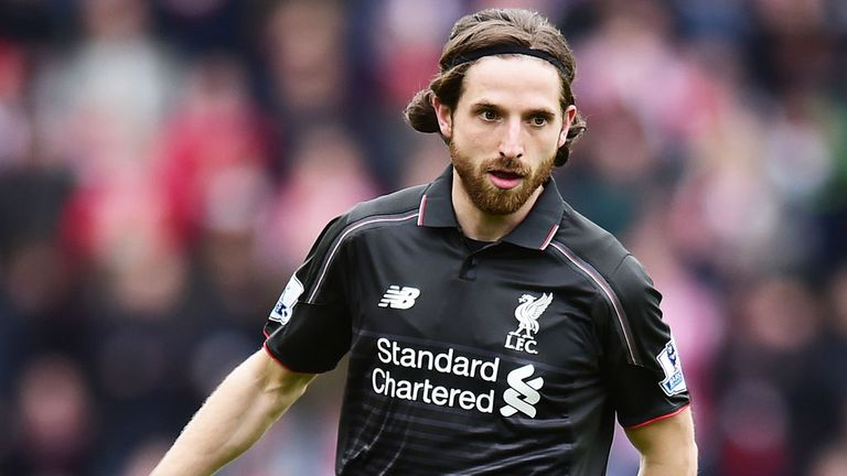 Joe Allen in action for Liverpool at Southampton