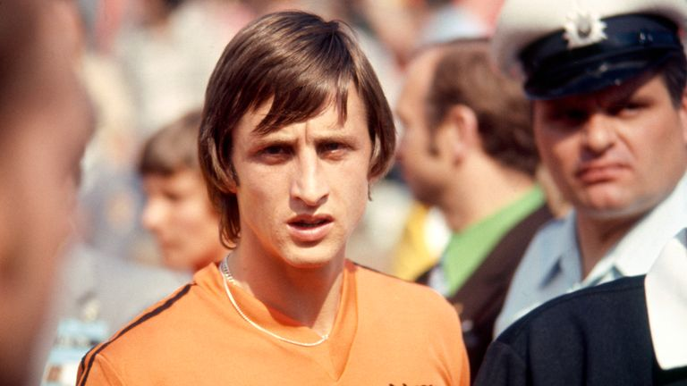 Cruyff at the 1974 World  Cup