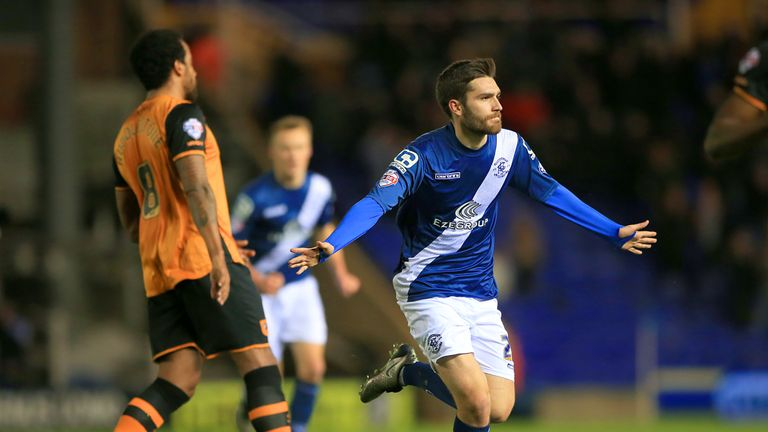 Birmingham City's Jon Toral celebrates scoring his sides first goal of the match