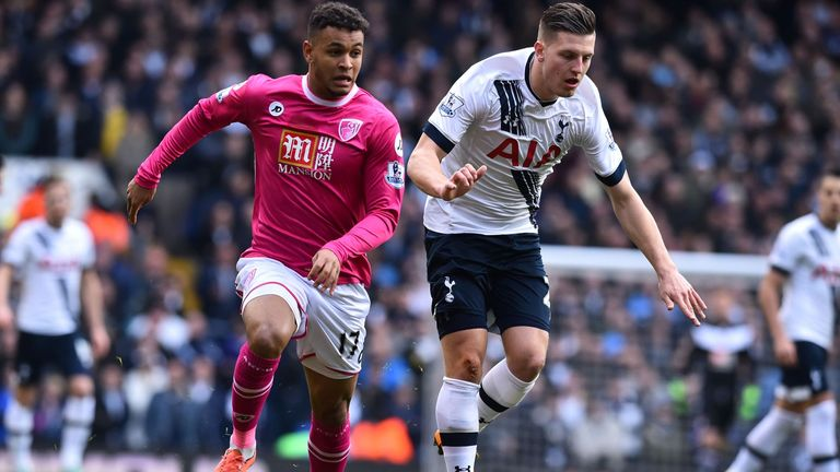 Joshua King and Kevin Wimmer tangle