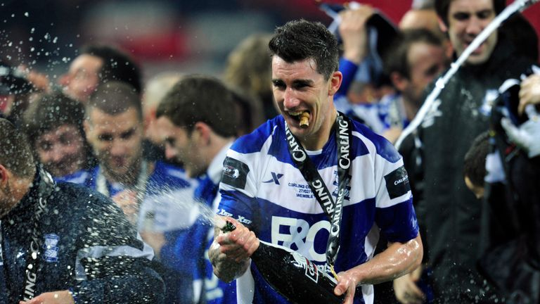 Ridgewell won the League Cup with Birmingham in 2011