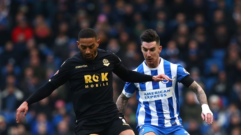 Liam Ridgewell (R) was on loan at Brighton during the off-season, and could see himself returning to play in England one day