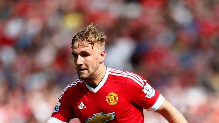 MANCHESTER, ENGLAND - AUGUST 22:  Luke Shaw of Manchester United in action during the Barclays Premier League match between Manchester United and Newcastle