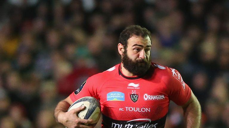 Mamuka Gorgodze of Toulon runs the ball up