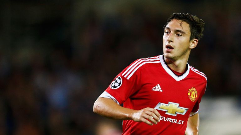 BRUGGE, BELGIUM - AUGUST 26:  Matteo Darmian of Manchester United looks on during the UEFA Champions League qualifying round play off 2nd leg match between
