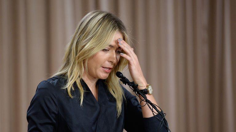Maria Sharapova addresses the media to reveal she had failed a test for meldonium