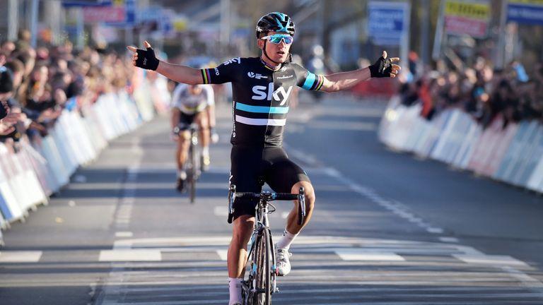 Michal Kwiatkowski claimed victory at E3 Harelbeke