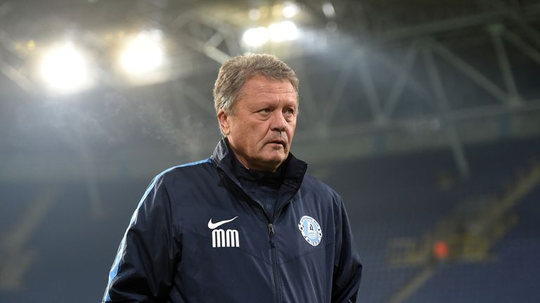 Dnipro head coach Myron Markevych is frustrated at the club's current predicament