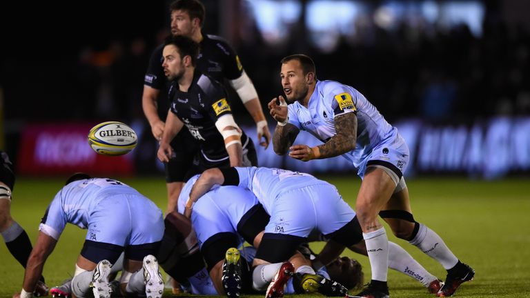 Warriors scrum-half Francois Hougaard in action against Newcastle Falcons