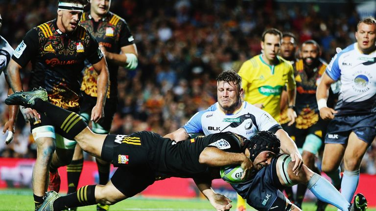 Charlie Ngatai terrorised the Western Force with four second-half tries