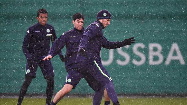 Bendtner did not always impress in training for Wolfsburg