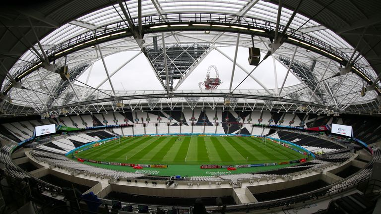 A general view of Olympic Stadium in London during Rugby World Cup