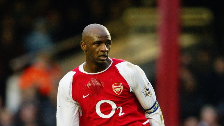 Patrick Vieira played a crucial role for Arsenal during 'the Invincibles' season