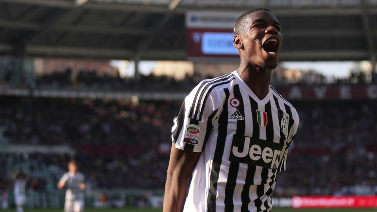 Paul Pogba has scored six Serie A goals for Juventus this season