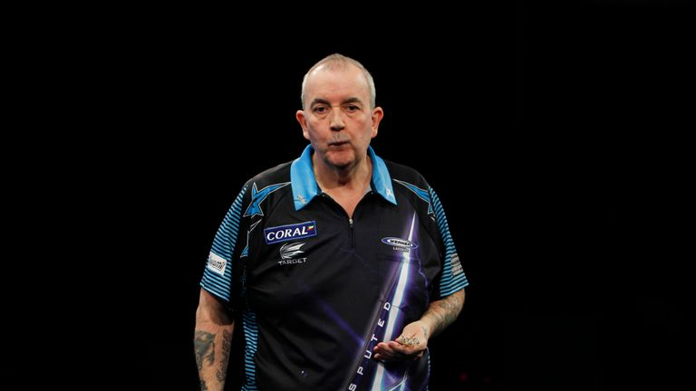 Phil Taylor suffered defeat to Van Gerwen in the semi-finals