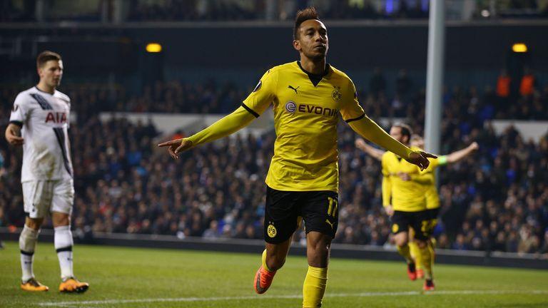 Pierre-Emerick Aubameyang scored both goals for Dortmund
