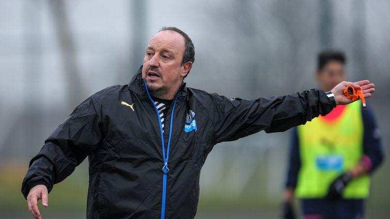 Newcastle's New Manager Rafael Benitez gestures (GETTY PREMIUM)