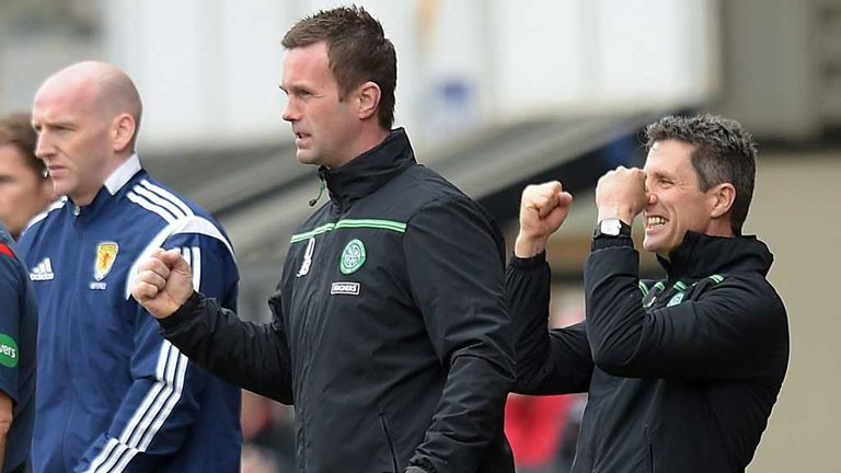 Ronny Deila, & John Collins Hurrah Celtic have scored