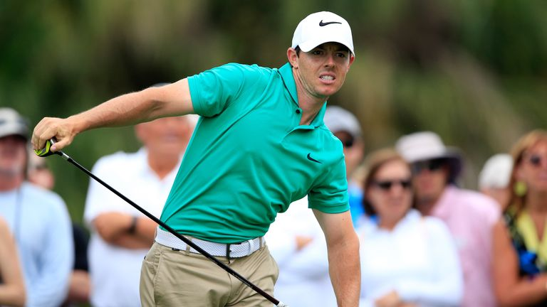 Rory McIlroy leads Dustin Johnson by three shots at Trump National