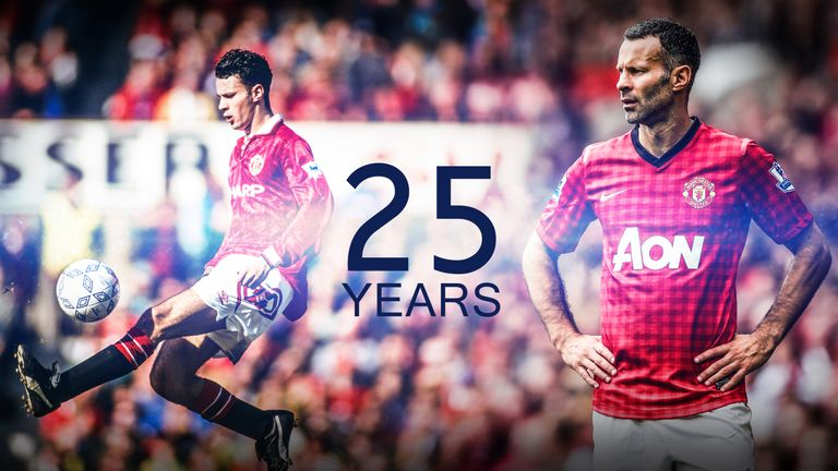 Ryan Giggs made his debut for Manchester United 25 years ago on Wednesday