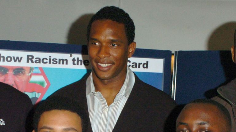 Former Hammer Shaka Hislop is honorary president of Show Racism the Red Card