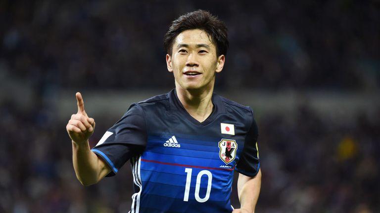 Shinji Kagawa scored twice during Japan's rout of Syria