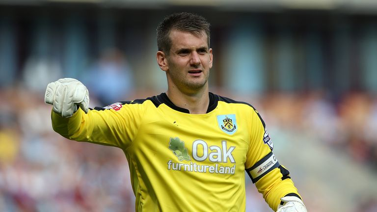 Tom Heaton captains Burnley, who are in the Championship promotion race