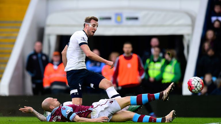 Harry Kane puts Spurs ahead at Villa Park