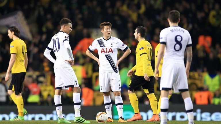 Tottenham react after Borussia Dortmund take the lead