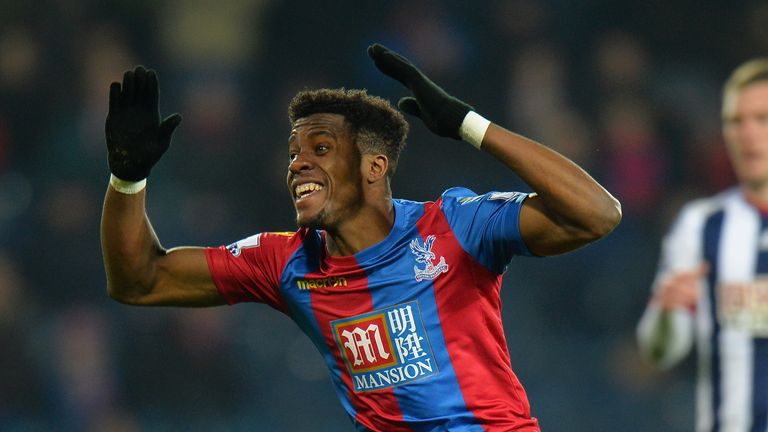 WEST BROMWICH, ENGLAND - FEBRUARY 27:  Wilfried Zaha of Crystal Palace during the Barclays Premier League match between West Bromwich Albion and Crystal Pa