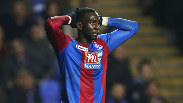 Yannick Bolasie missed three decent chances during the first half of Palace's FA Cup tie at Reading