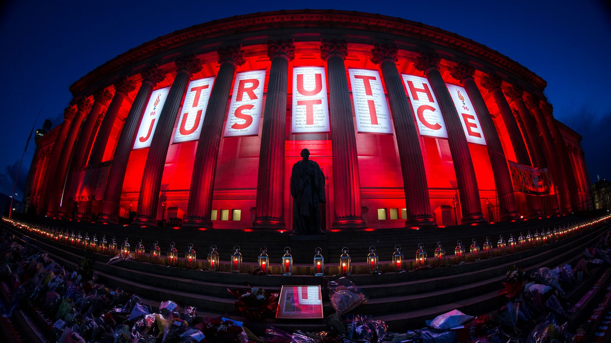 Hillsborough vigil sees thousands pay tribute in Liverpool