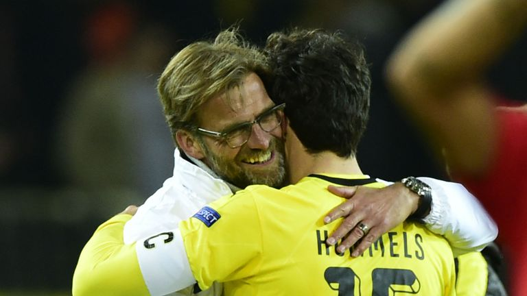 Hummels won two Bundelsiga titles under Jurgen Klopp at Dortmund
