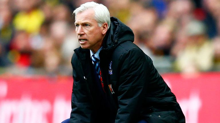 Pardew is aiming to improve Palace's league position