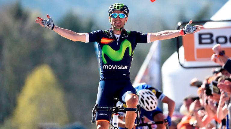 Alejandro Valverde won La Fleche Wallonne for the fourth time