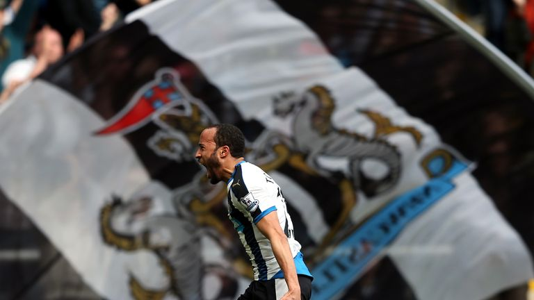 Newcastle United's Andros Townsend celebrates after scoring during the English Premier League football match v Crystal Palace