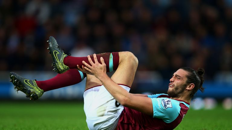 Andy Carroll has suffered an injury-plagued time at West Ham
