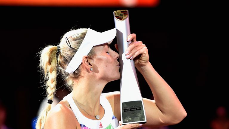 Angelique Kerber celebrates another title during what is proving to be a superb 2016