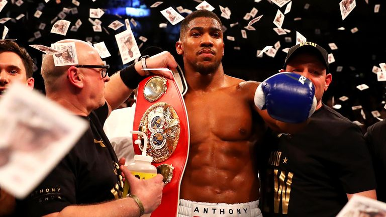Joshua beat Martin at the O2 in April to win the belt